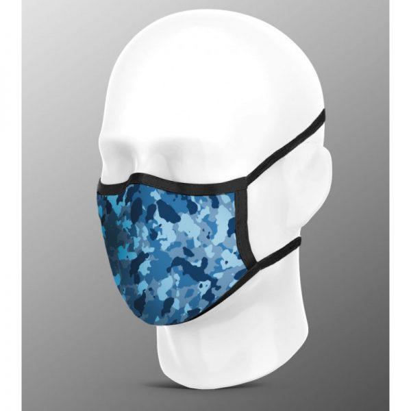 Mascarilla higiénica pro azul mimetizado
