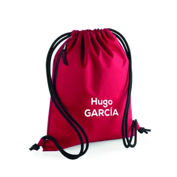 mochila de cuerdas personalizable rojo