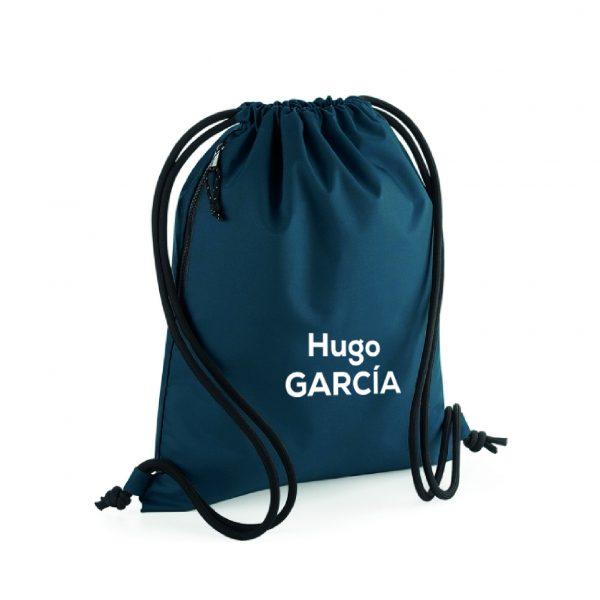 mochila de cuerdas personalizable azul