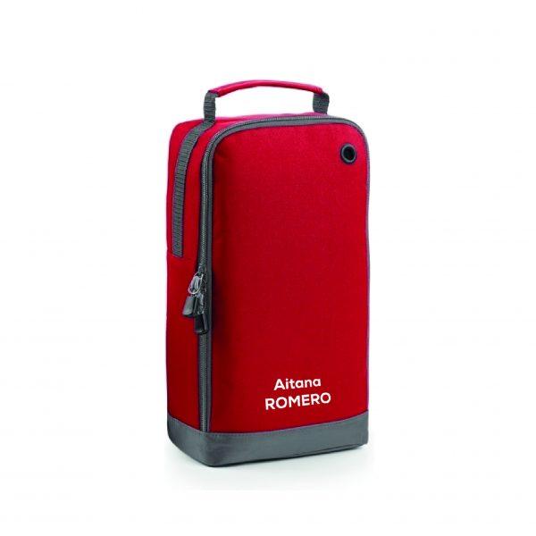 Bolsa calzado personalizable roja
