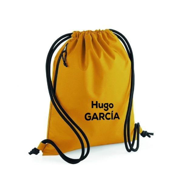 mochila de cuerdas personalizable amarillo