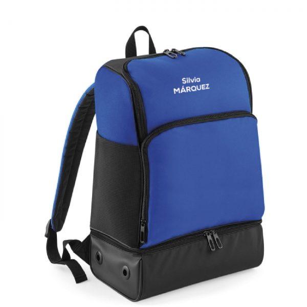 mochila corredor azul