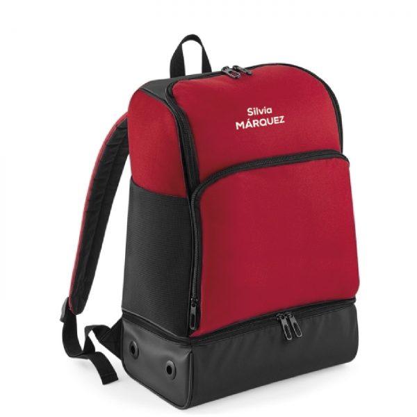 mochila corredor rojo